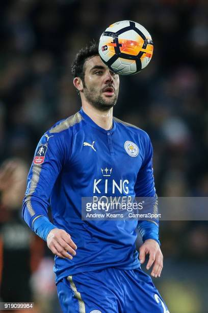 Leicester City's Vicente Iborra during the The Emirates FA Cup Fifth Round match between Leicester City and Sheffield United at The King Power...