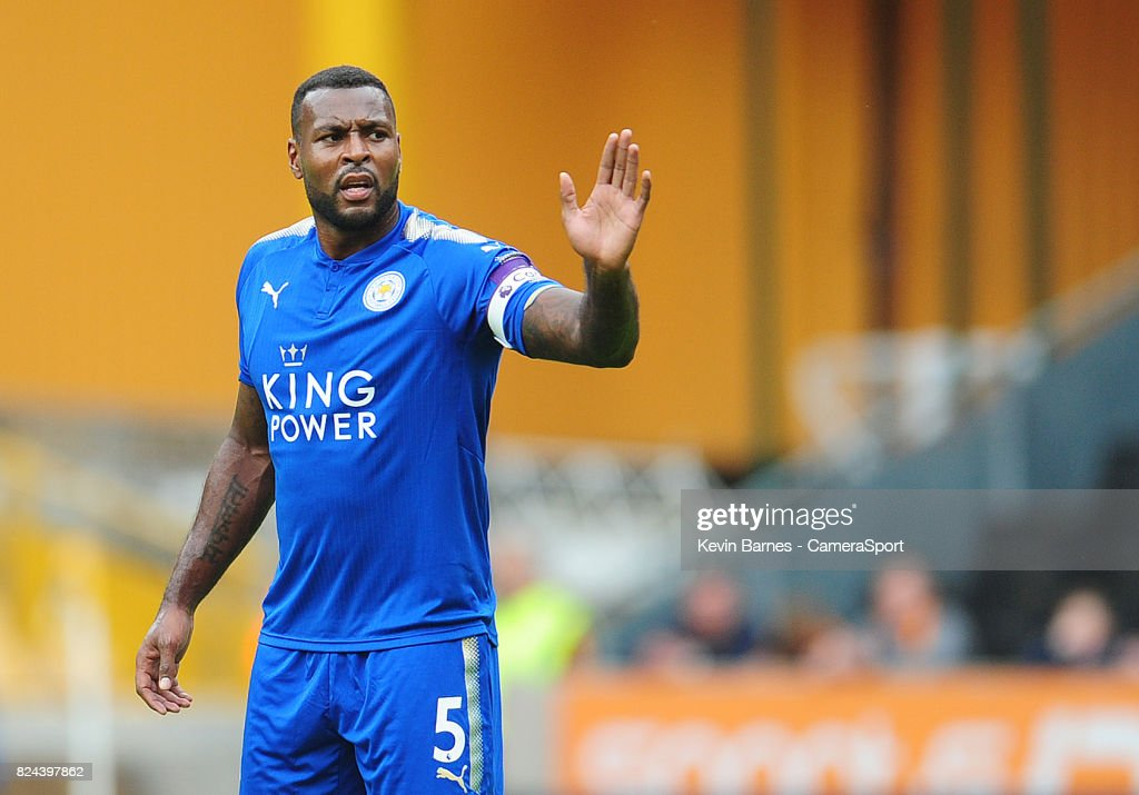 Leicester Citys Wes Morgan during the pre-season friendly match between Wolverhampton Wanderers and Leicester City at Molineux on July 29, 2017 in Wolverhampton, England.