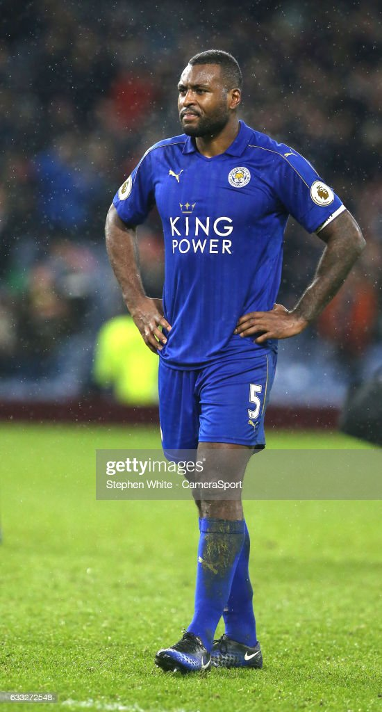 Leicester City's Wes Morgan leaves the pitch showing his disappointment at his sides 1-0 defeat during the Premier League match between Burnley and Leicester City at Turf Moor on January 31, 2017 in Burnley, England.