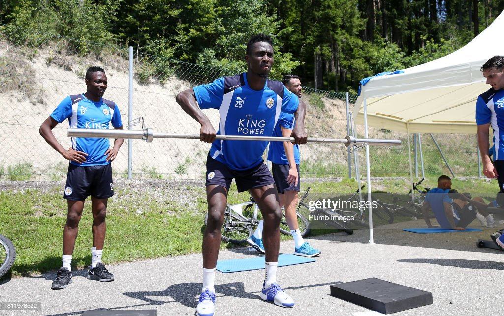 Leicester City's Wilfred Ndidi during the Leicester City Pre-Season tour of Austria at Velden Training Facility on July 10th , 2017 in Velden, Austria.