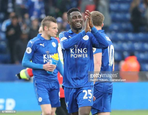 Leicester City's Wilfred Ndidi during the Premier League match between Leicester City and Watford at The King Power Stadium on May 6 2017 in...