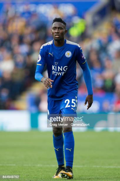 Leicester City's Wilfred Ndidi during the Premier League match between Leicester City and Chelsea at The King Power Stadium on September 9 2017 in...
