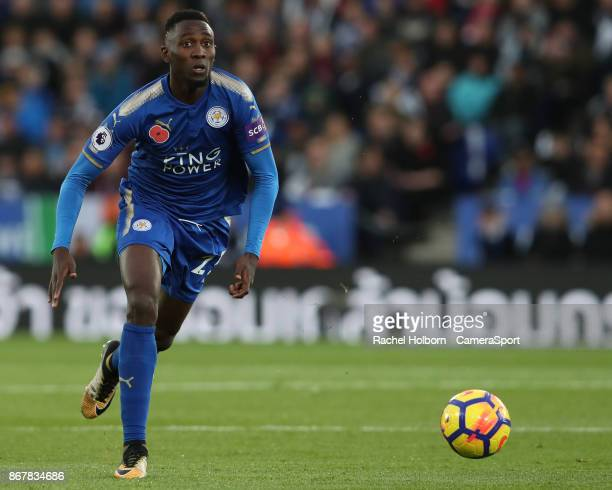 Leicester City's Wilfred Ndidi during the Premier League match between Leicester City and Everton at The King Power Stadium on October 29 2017 in...
