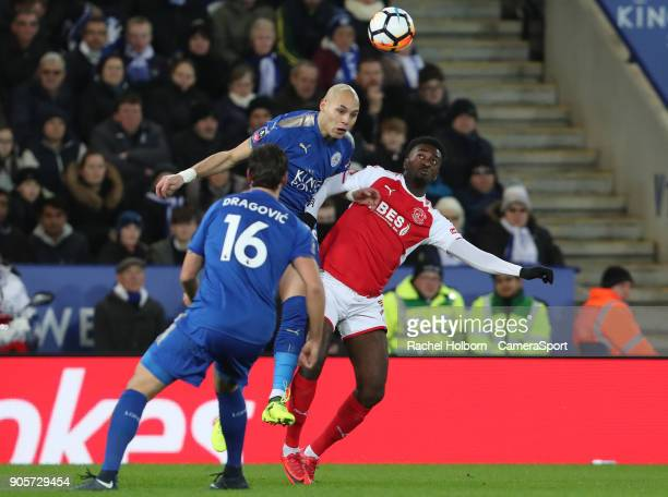 Leicester City's Yohan Benalouane during The Emirates FA Cup Third Round Replay match between Leicester City and Fleetwood Town at The King Power...