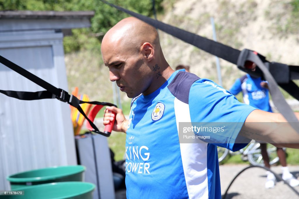 Leicester City's Yohan Benelouane during the Leicester City Pre-Season tour of Austria at Velden Training Facility on July 10th , 2017 in Velden, Austria.