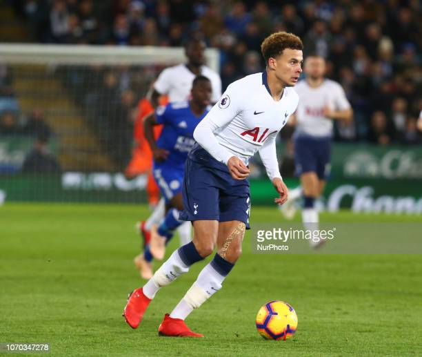 Leicester December 08 2018 Tottenham Hotspur's Dele Alli during the English Premier League match between Leicester City and Tottenham Hotspur at the...