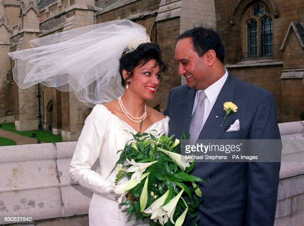 Leicester East MP Keith Vaz with his bride Maria Fernandes after their wedding in London 26/01/01 Mr Vaz Friday refused to say whether he made any...