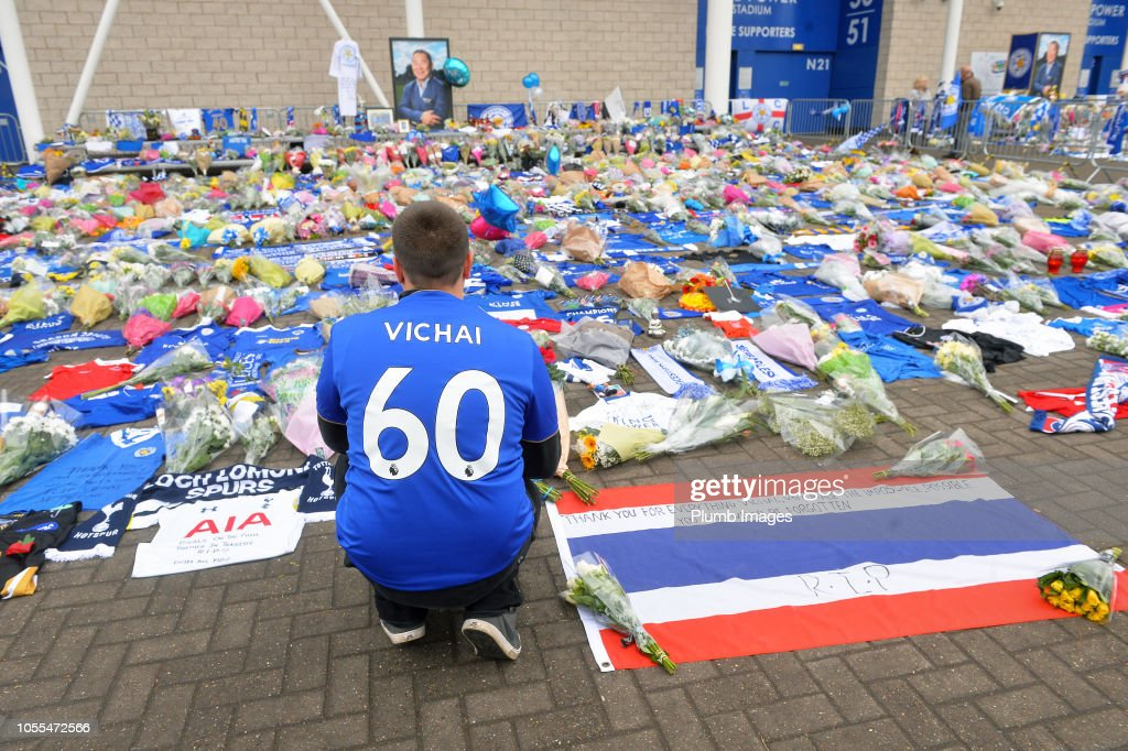 A Book of Condolence for Leicester City Owner Vichai Srivaddhanaprabha is Opened : News Photo
