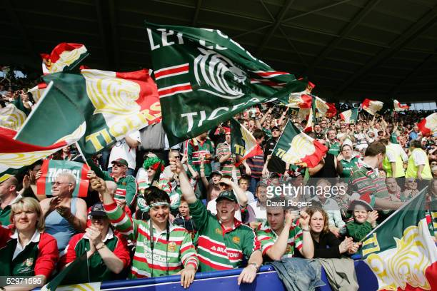 Leicester Fans pictured during the Heineken Cup Semi Final between Leicester Tigers and Toulouse at The Walkers Stadium on April 24 2005 in Leicester...