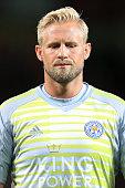 manchester england leicester goalkeeper kasper schmeichel