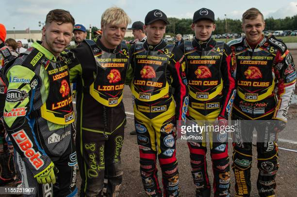 Leicester Lions Danyon Hume Ryan Terry Daley Joe Thompson Dan Thompson Luke Whitehead during the National League 4 Team Championship at Stoke...