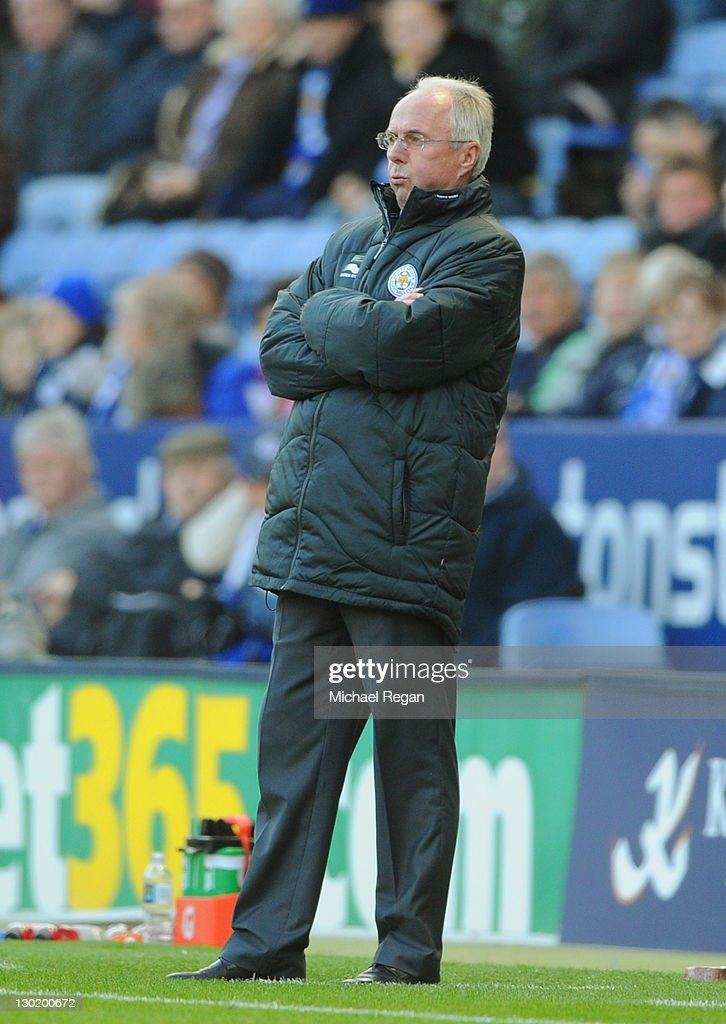 Leicester manager Sven-Goran Eriksson looks on during the npower Championship match between Leicester City and Millwall at the King Power Stadium on October 22, 2011 in Leicester, England.