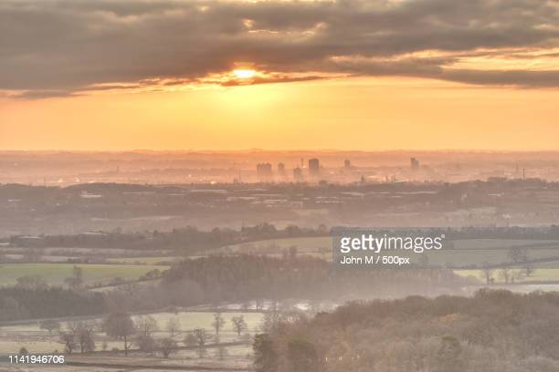 leicester sunrise - leicestershire stock pictures, royalty-free photos & images