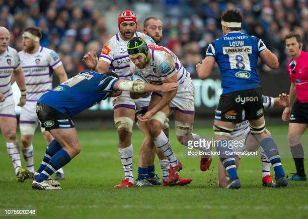 Leicester Tigers Graham Kitchener in action during the Gallagher Premiership Rugby match between Bath Rugby and Leicester Tigers at Recreation Ground...