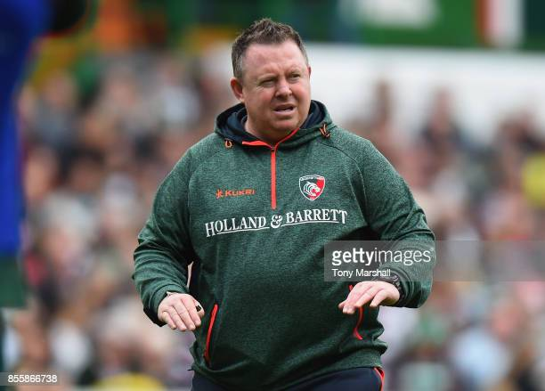 Leicester Tigers Head Coach Matt O'Connor during the Aviva Premiership match between Leicester Tigers and Exeter Chiefs at Welford Road on September...