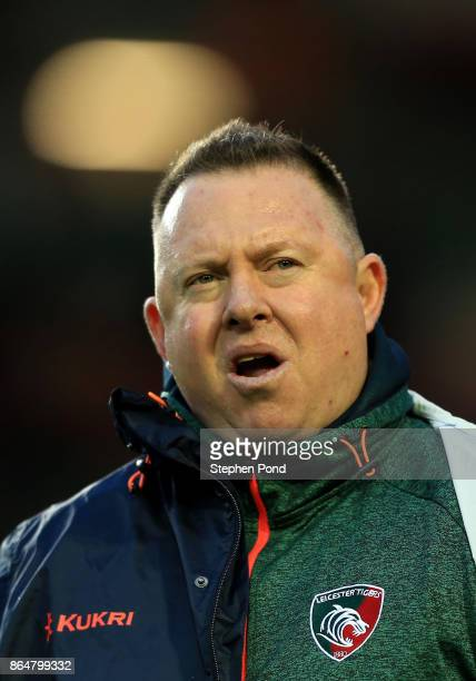 Leicester Tigers Head Coach Matt O'Connor during the European Rugby Champions Cup match between Leicester Tigers and Castres Olympique at Welford...