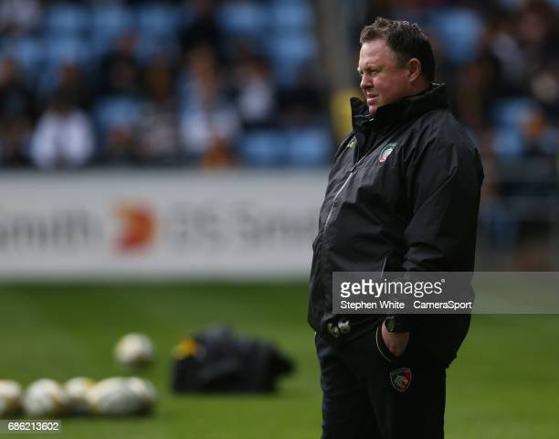 Leicester Tigers' Head Coach Matt O'Connor during the pre match warm up ahead of the Aviva Premiership match between Wasps and Leicester Tigers at...