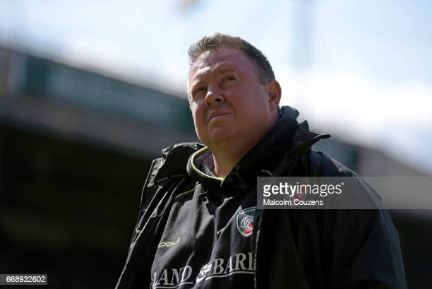 Leicester Tigers head coach Matt O'Connor looks on during the Aviva Premiership match between Leicester Tigers and Newcastle Falcons at Welford Road...