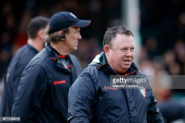 Leicester Tigers head coach Matt O'Connor looks on during the Aviva Premiership match between Worcester Warriors and Leicester Tigers at Sixways...