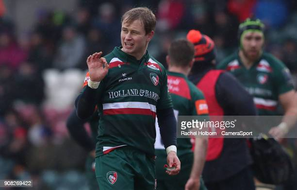 Leicester Tigers' Mathew Tait during the European Rugby Champions Cup match between Leicester Tigers and Racing 92 at Welford Road on January 21 2018...