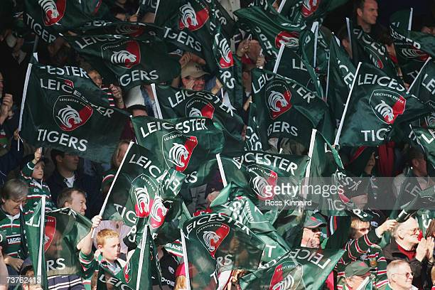 Leicester Tigers supporters during the Heineken Cup Quater Final between Leicester Tigers and Stade Francais at Welford Road on April 1 2007 in...