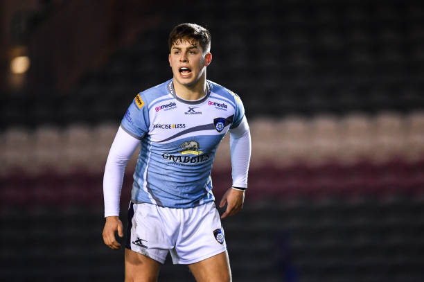 Leicester , United Kingdom - 19 January 2019; Dan Lancaster of Yorkshire Carnegie during the Under 18 league fixture between Leicester Academy and Yorkshire Carnegie at Welford Road in Leicester, England. (Photo By Ramsey Cardy/Sportsfile via Getty Images)