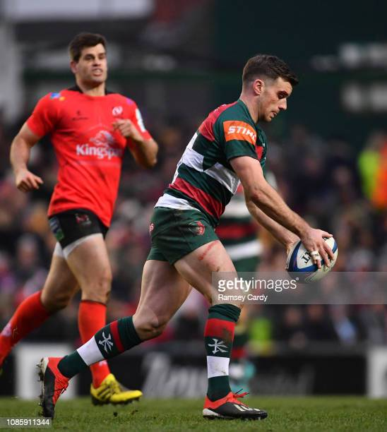 Leicester , United Kingdom - 19 January 2019; George Ford of Leicester Tigers during the Heineken Champions Cup Pool 4 Round 6 match between...