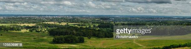 leicester united kingdom panorama - leicestershire stock pictures, royalty-free photos & images