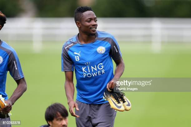 Leicester's Ahmed Musa during the Leicester City Training session at Belvoir Drive Training Complex on July 7 2017 in Leicester United Kingdom