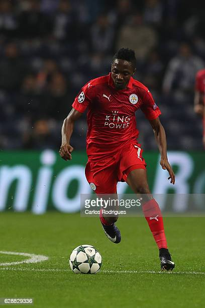 Leicester´s forward Ahmed Musa from Nigeria during the match between FC Porto v Leicester City FC UEFA Champions League match at Estadio do Dragão on...