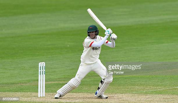 Leicestershire batsman Neil Dexter picks up some runs during day two of the Specsavers second division County Championship match between Glamorgan...