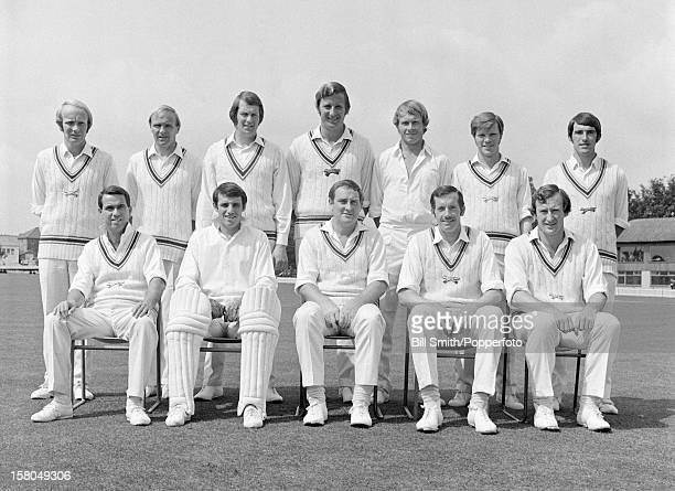 Leicestershire county cricket team prior to their Gillette Cup match against Kent at Grace Road in Leicester circa 1971 Back row Jack Birkenshaw Mick...