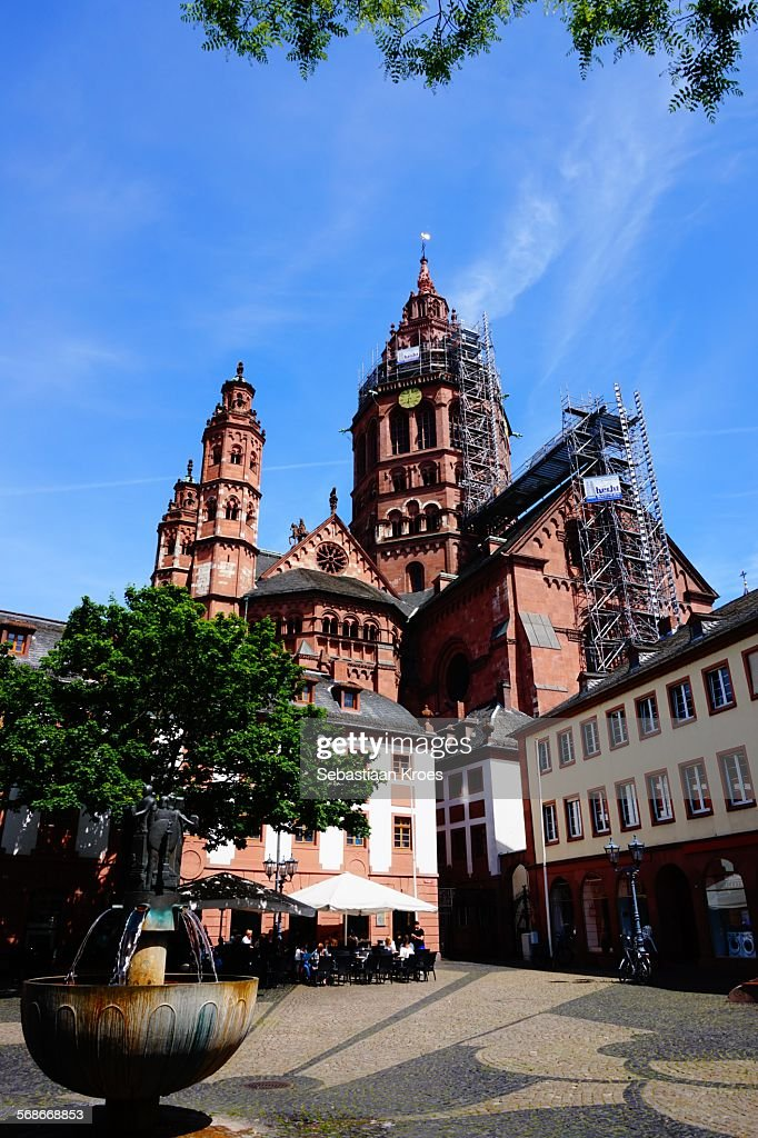 Leichhof, Cathedral of Mainz, Germany : Stock Photo