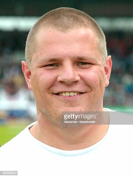 Leichtathletik: Deutsche Meisterschaft 2004, Braunschweig; Kugelstossen / Maenner; Ralf BARTELS / GER 11.07.04.
