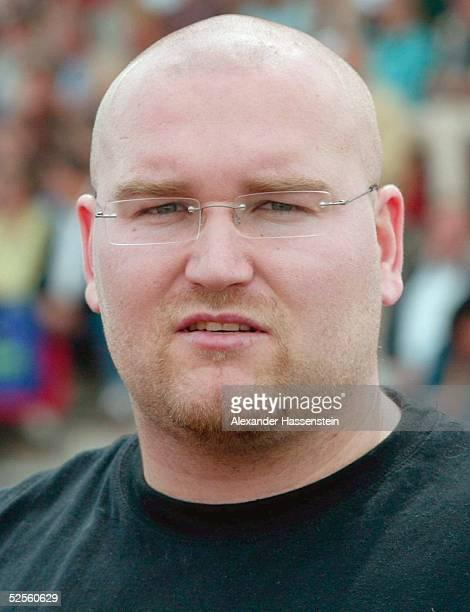 Leichtathletik: Deutsche Meisterschaft 2004, Braunschweig; Kugelstossen / Maenner; Peter SACK / GER 11.07.04.