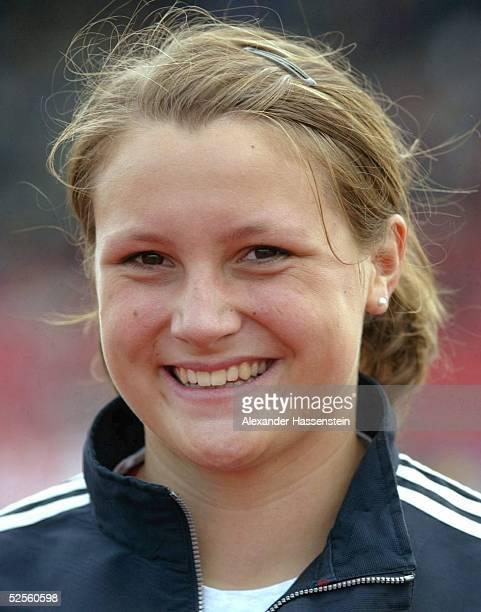 Leichtathletik: Deutsche Meisterschaft 2004, Braunschweig; Speer / Frauen; Annika SUTHE / GER 11.07.04.