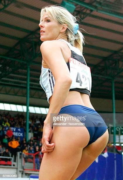 Leichtathletik Deutsche Meisterschaft 2004 Braunschweig Susen TIEDTKE / LG Eintracht Frankfurt Weitsprung 110704