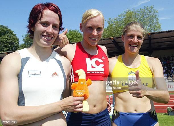 Leichtathletik DLV Mehrkampfmeeting 2004 Ratingen Sonja KAESSELSCHLAEGER / SC Neubrandenburg Claudia TONN / LC Paderborn und Karin ERTL / LAC Quelle...