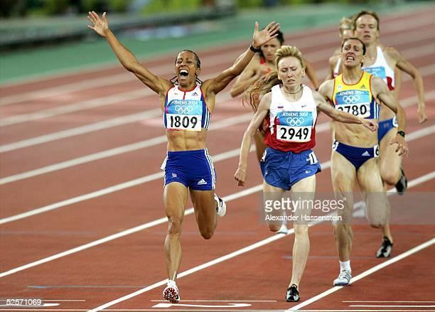 Leichtathletik: Olympische Spiele Athen 2004, Athen; 1500m / Frauen; Gold: Kelly HOLMES / GBR, Silber: Tatjana TOMASCHOWA / RUS, Bronze: Marian...