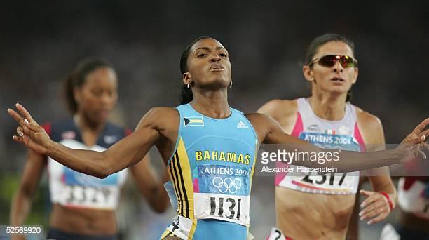 Leichtathletik Olympische Spiele Athen 2004 Athen 400m / Frauen / Finale Gold Tonique WILLIAMSDARLING / BAH Silber Ana GUEVARA / MEX 240804