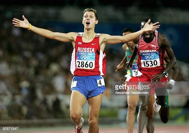 Leichtathletik: Olympische Spiele Athen 2004, Athen; 800m / Maenner; Gold: Yuri BORZAKOVSKIY / RUS 28.08.04.