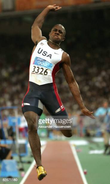 Leichtathletik Olympische Spiele Athen 2004 Athen Weitsprung / Maenner Gold Dwight PHILLIPS / USA 260804