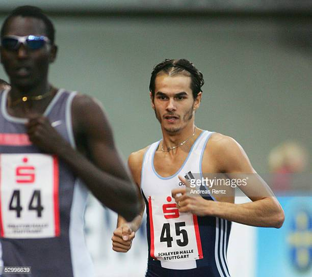 Sparkassen Cup 2005 , Stuttgart , 29.01.05 800 Meter Finale Youssef SAAD KAMEL / BRN , Mehdi BAALA / FRA belegte den 3. Platz Foto:BONGARTS/Andreas...