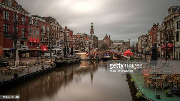 Leiden old town and floating Christmas market