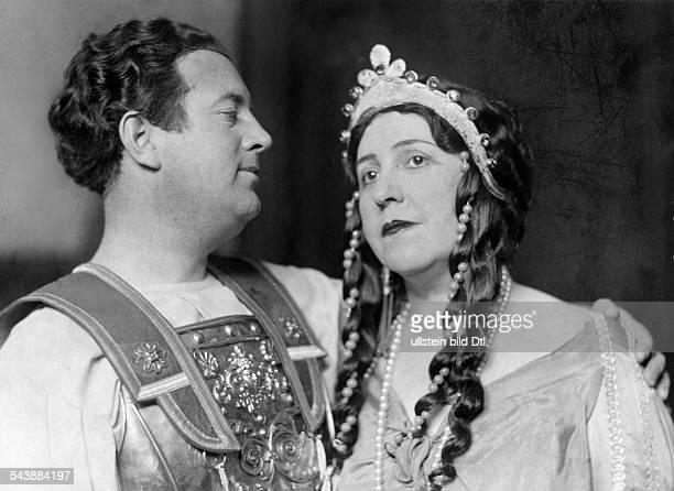 Leider Frida Singer Soprano singer Germany*18041888and tenor Helge Rosvaenge in the opera 'The Trojans' by Hector Berlioz Staatsoper Unter den Linden...