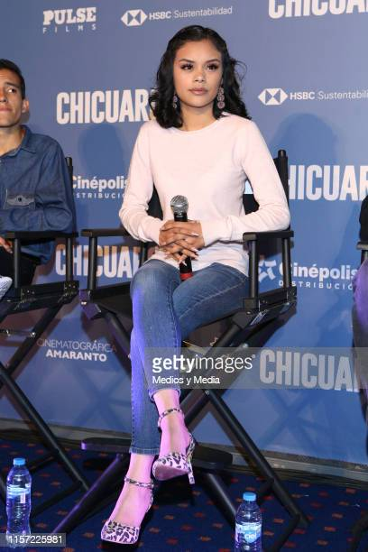 Leidi Gutierrez during a press conference to present the film 'Chicuarotes' at Cinepolis Diana on June 20 2019 in Mexico City Mexico