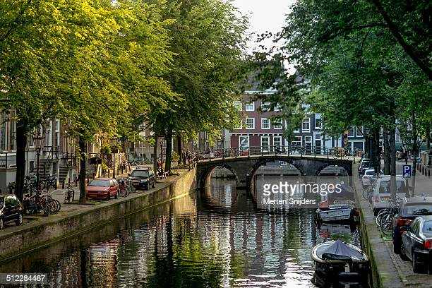 leidsegracht in the morning - merten snijders stock pictures, royalty-free photos & images
