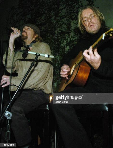 Leif Garrett and Billy Duffy during Falcon Restaurant and Blender Magazine Host Homeless Health Care Benefit Los Angeles at Falcon Restaurant in Los...