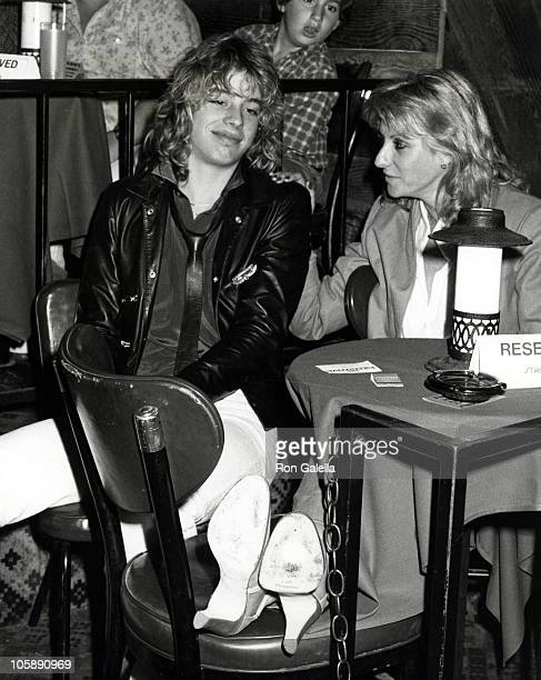 Leif Garrett and Fluer Theiseyer during Virgin Concert at Starwood Club February 9 1979 at Starwood in Los Angeles California United States