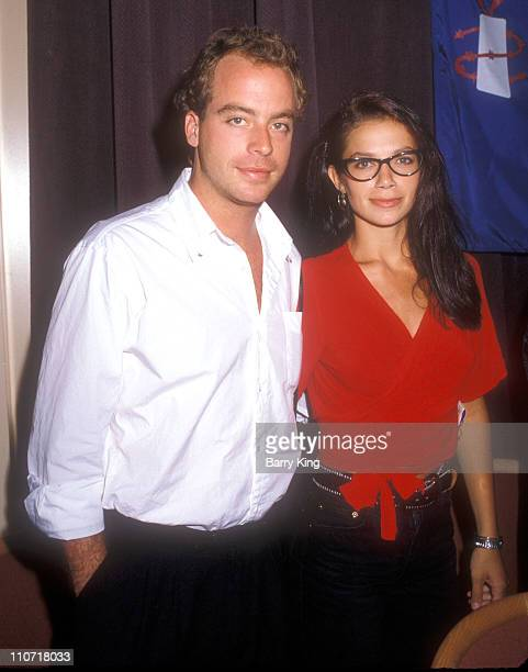 Leif Garrett and Justine Bateman during Amnesty International Event - 1988 at The Palace in Hollywood, California, United States.